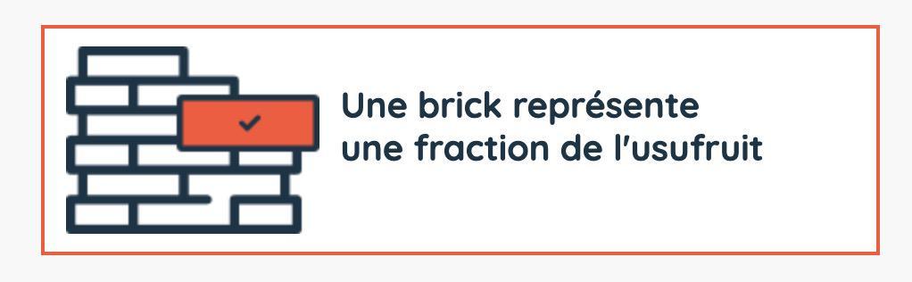 Une brick représente une fraction de l'usufruit chez Brciks.co