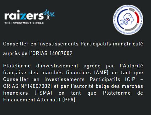 Raizers est inscrit à l'ORIAS sous le numéro 14007002